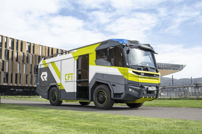 Camión de bomberos eléctrico Rosenbauer Concept