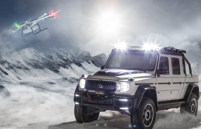 El Mercedes-AMG G-Wagon 800 Adventure XLP tiene una plataforma de aterrizaje para drones